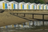 2nd Place Print - Beach hut reflections - Brian Hill