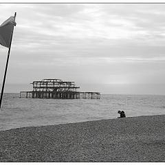 Old Brighton Pier by Neil Scarlett