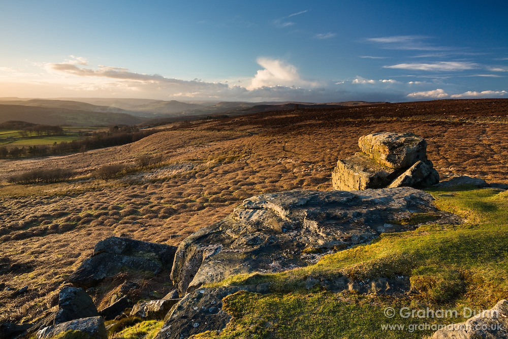 Evening light, White Edge - Peak District