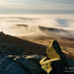 Temperature inversion from Higger Tor - Peak District