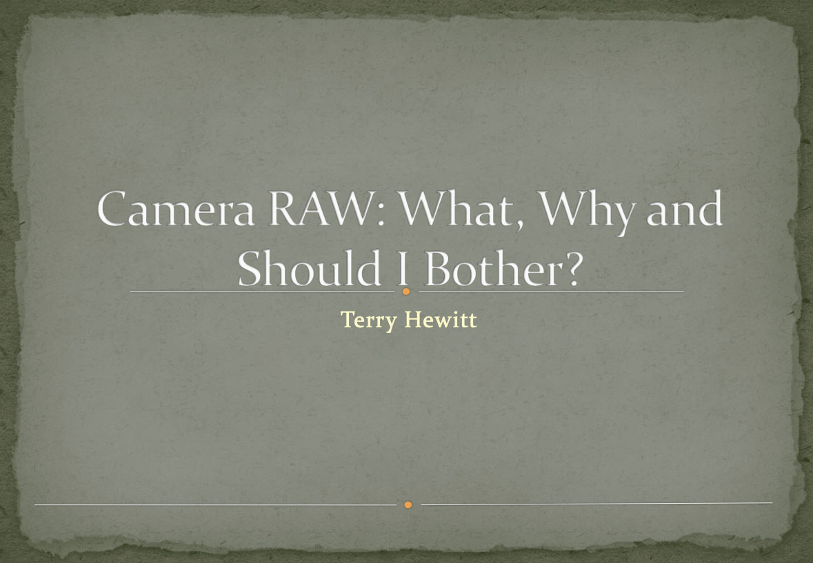 Camera RAW: What, Why and Should I Bother?